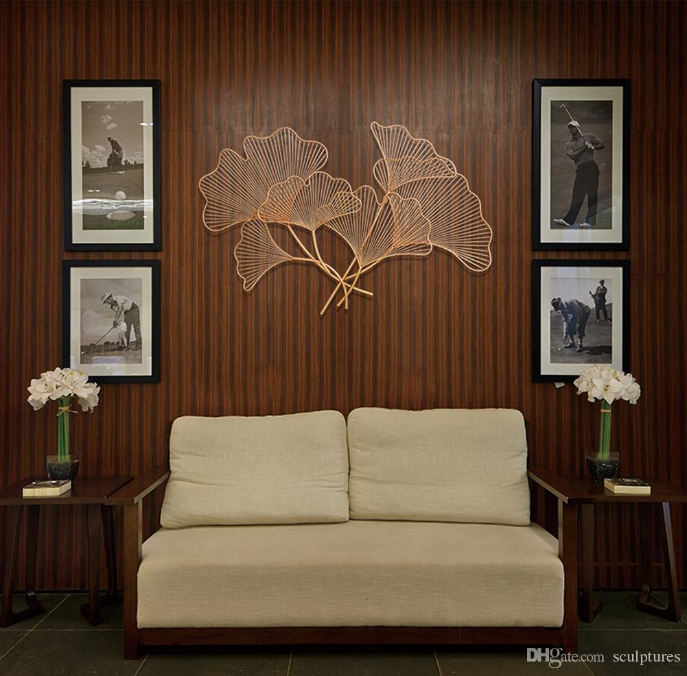 2019 2017 Limited Handmade Asian Metal Wall Art Ginkgo Leaf In Intended For Trendy Leaves Metal Sculpture Wall Decor (Gallery 19 of 20)