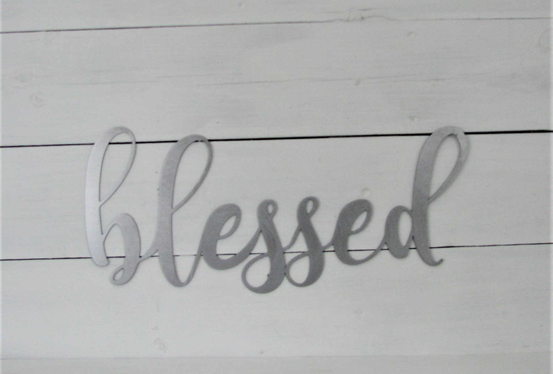 2019 Blessed Steel Wall Decor Regarding Blessed Script Metal Word Wall Art Steel Metal Rustic Home (Gallery 12 of 20)