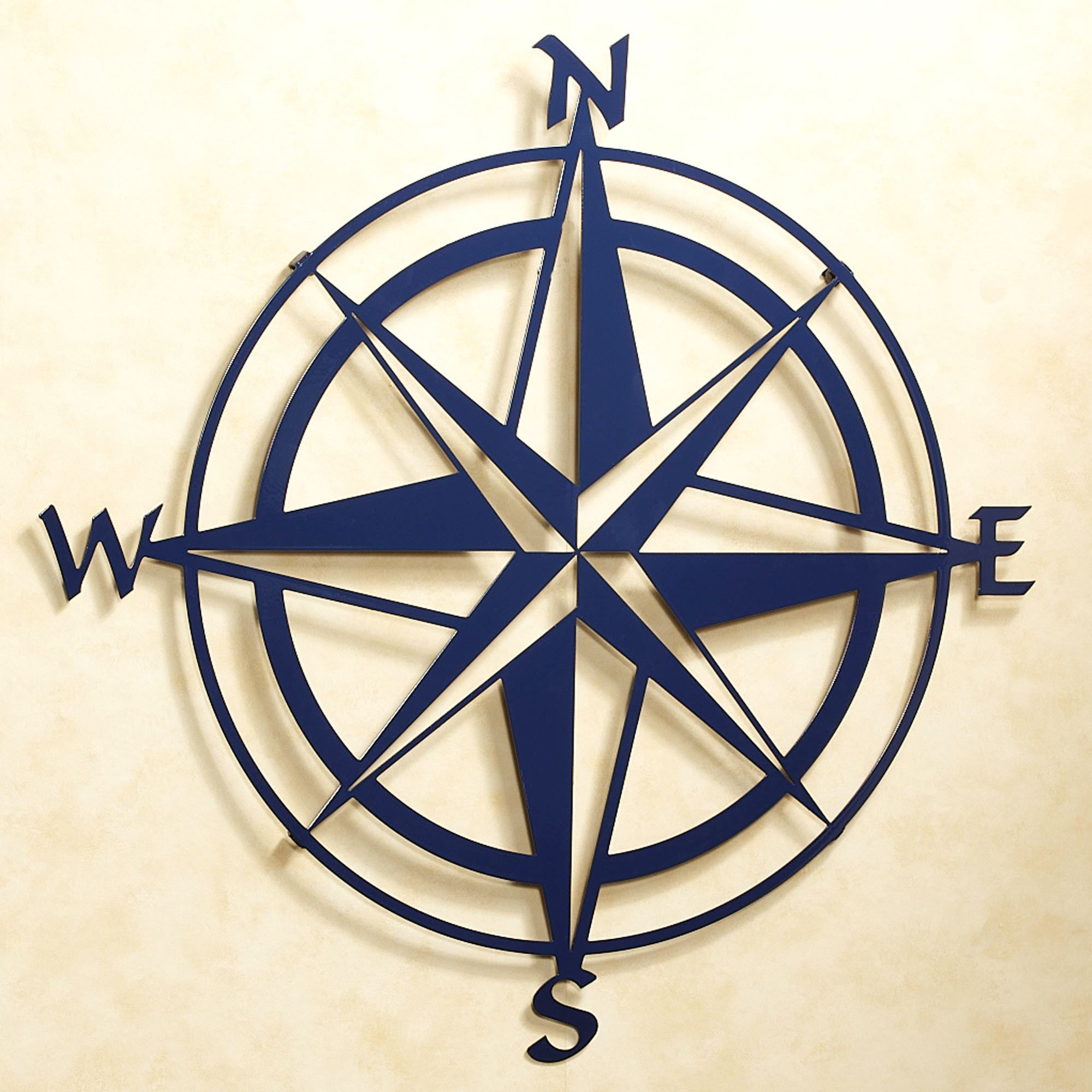 2019 Compass Rose Indoor Outdoor Metal Wall Art Within Round Compass Wall Decor (View 1 of 20)