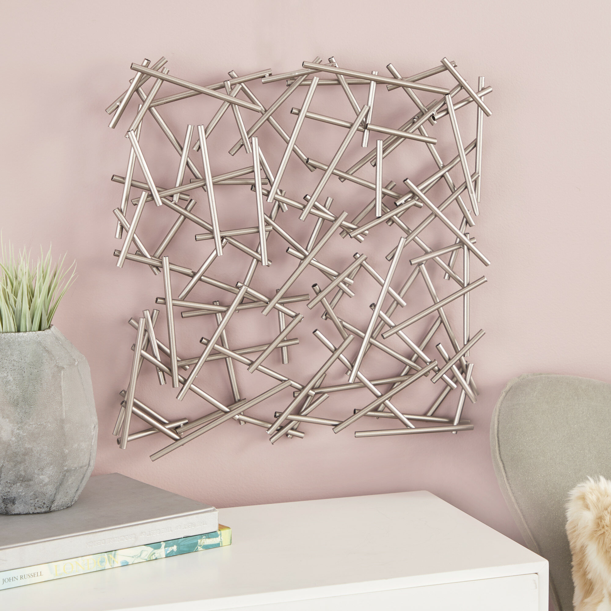 2019 Cosmolivingcosmopolitan Metal Wall Décor & Reviews (View 1 of 20)
