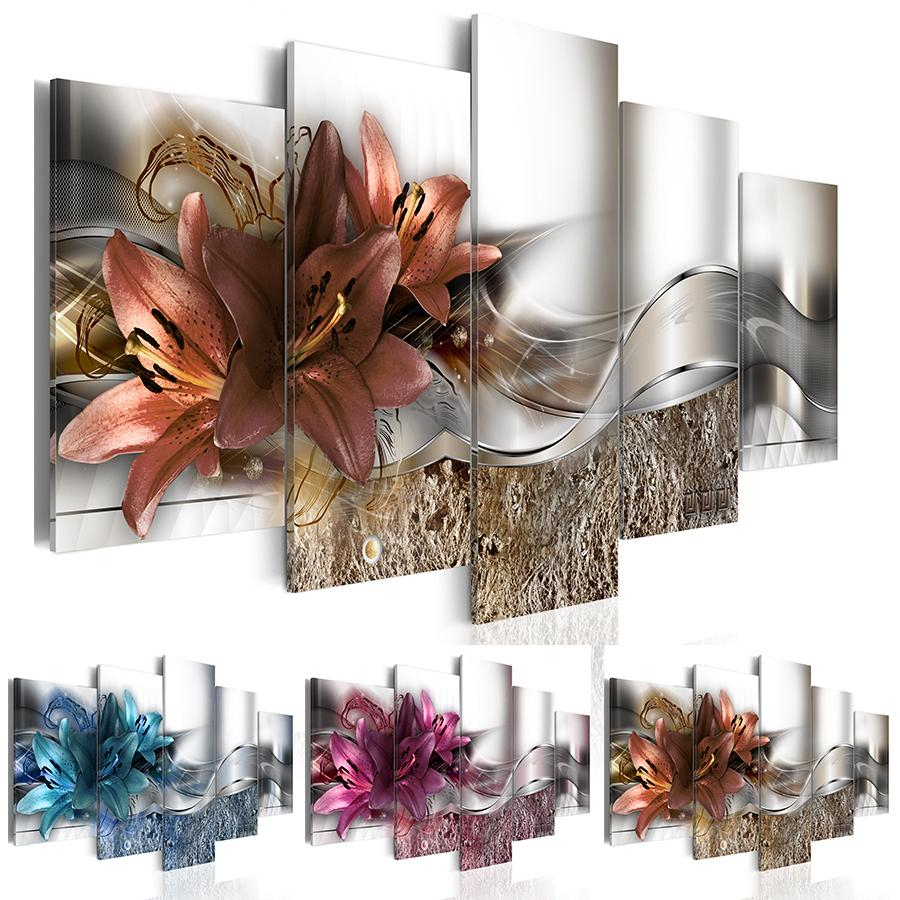 2019 Living Room Wall Art Fashion Wall Art Canvas Painting Abstract Inside Recent 3 Piece Magnolia Brown Panel Wall Decor Sets (View 9 of 20)