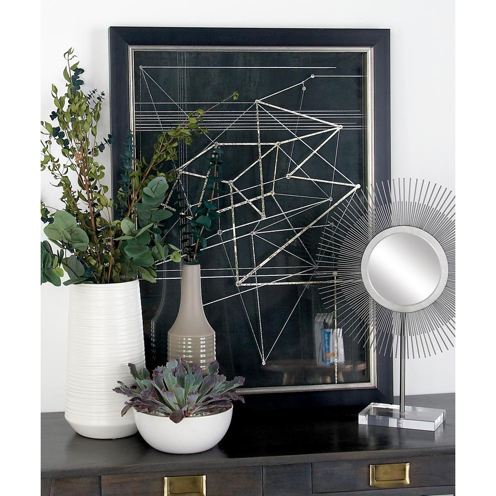 "2019 Metal Wall Decor By Cosmoliving Regarding Cosmolivingcosmopolitan 31 In. X 23 In. ""triangles And Lines (Gallery 12 of 20)"