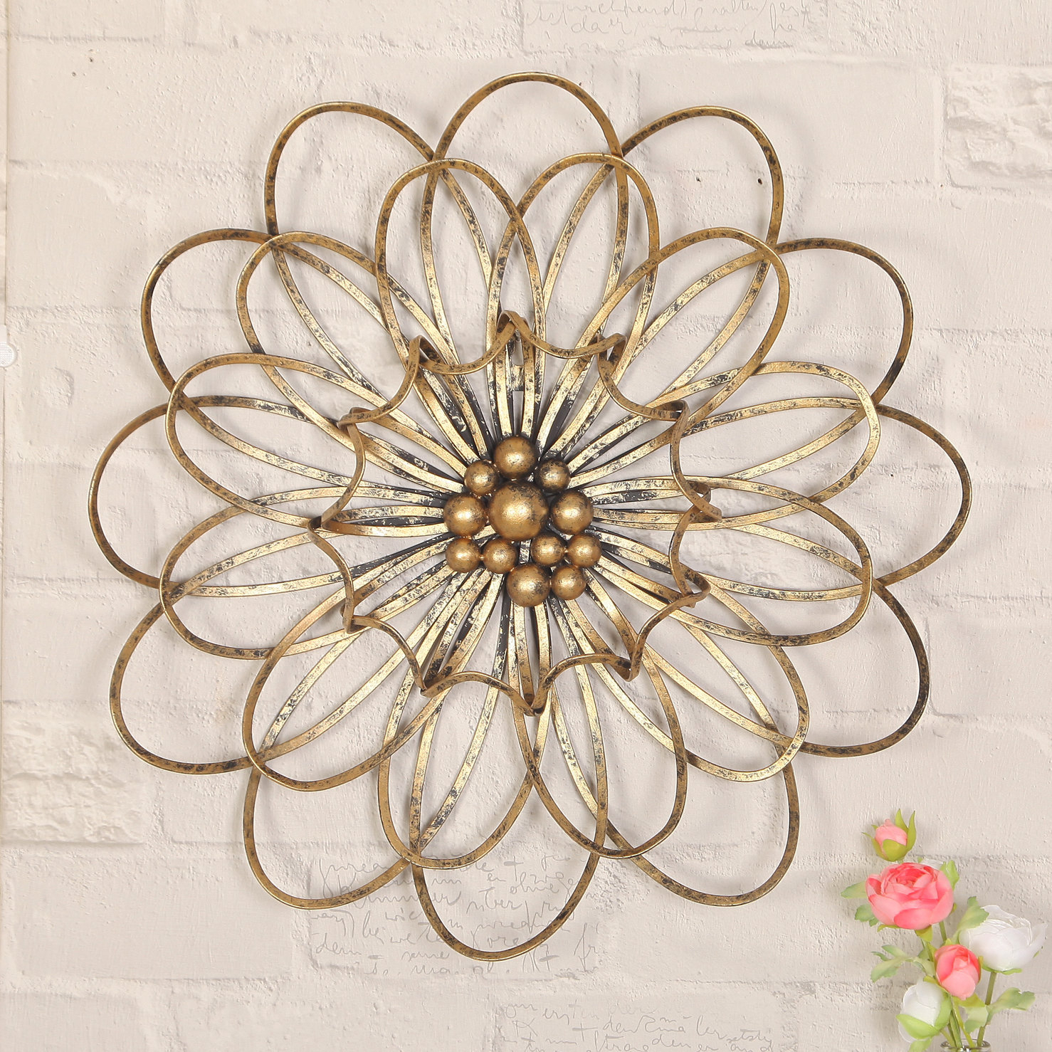 2019 Raheem Flowers Metal Wall Decor Intended For Adecotrading Flower Urban Design Metal Wall Décor & Reviews (View 2 of 20)
