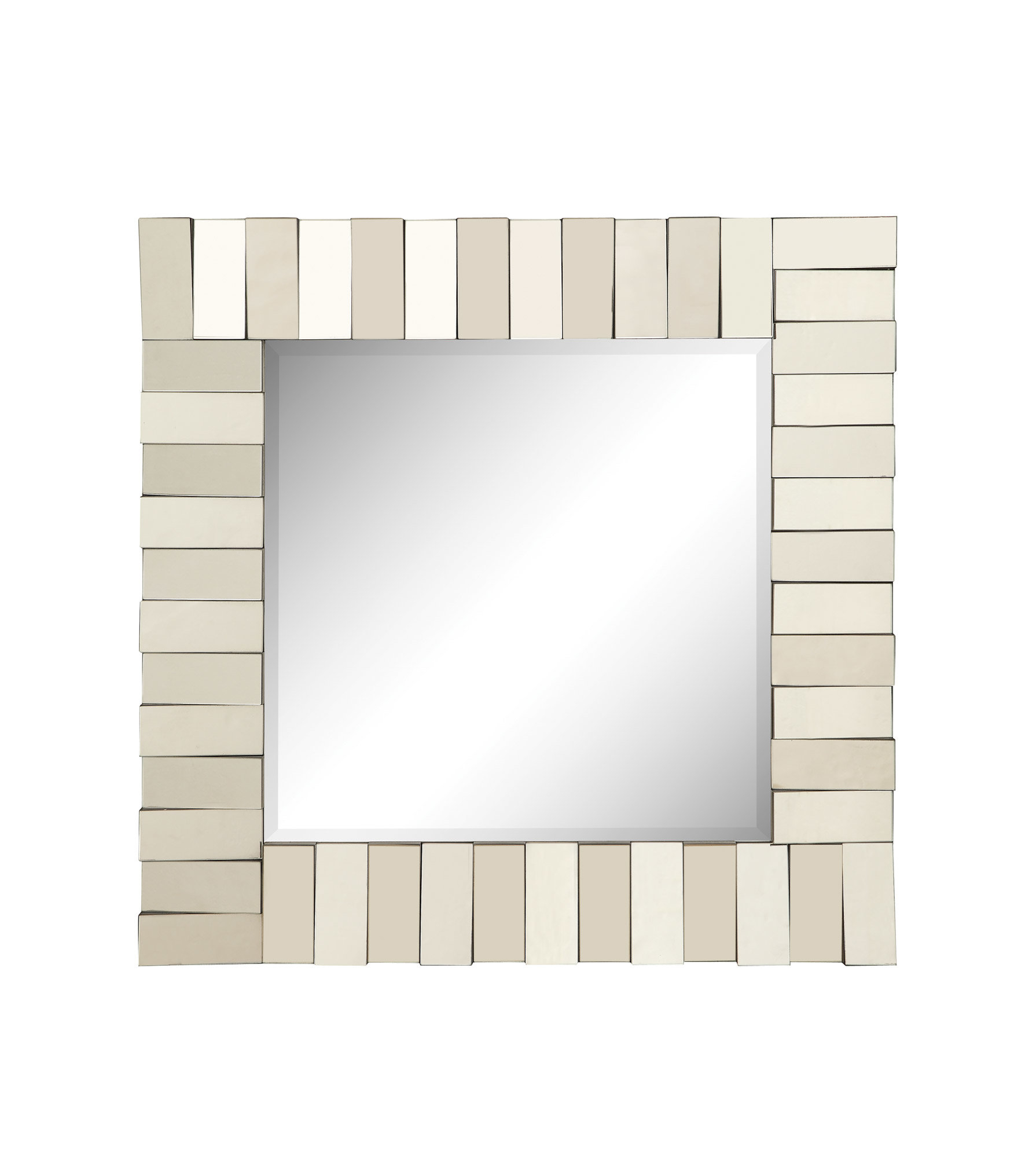 2019 Square Silver Wall Mirror & Reviews (View 1 of 20)