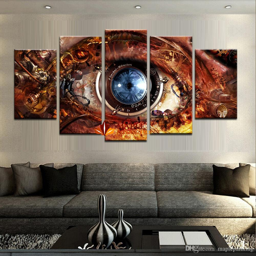 2019 Wholesale Canvas Print Painting 5 Panel Hd Printed Oil Painting With Favorite Abstract Bar And Panel Wall Decor (View 5 of 20)