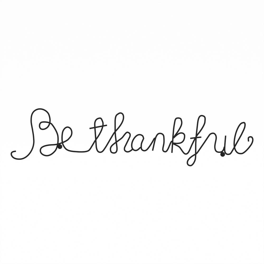 "2020 Choose Happiness 3d Cursive Metal Wall Decor Throughout Lavish Home ""be Thankful"" Metal Cutout Sign Hw0200042 – The Home Depot (View 12 of 20)"