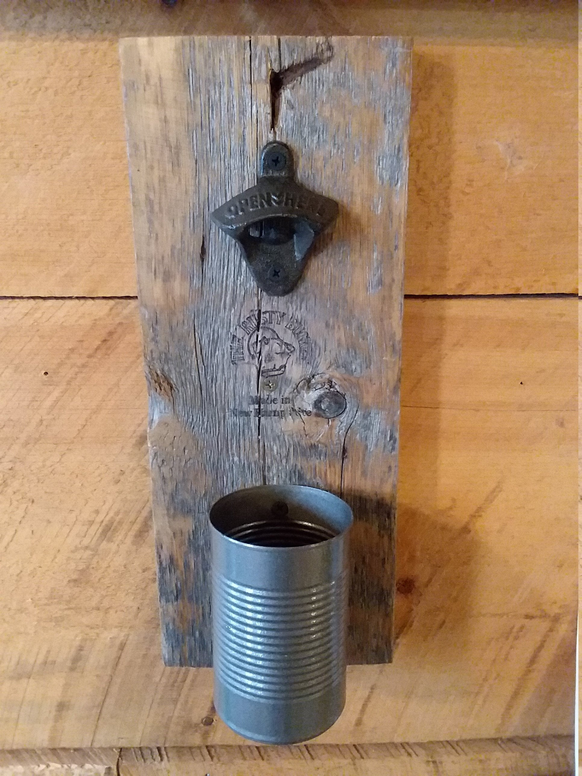 2020 Farm Metal Wall Rack And 3 Tin Pot With Hanger Wall Decor Regarding Gift For Him! Rustic Wall Hanging Barn Board Beer Bottle Cap Opener (Gallery 20 of 20)