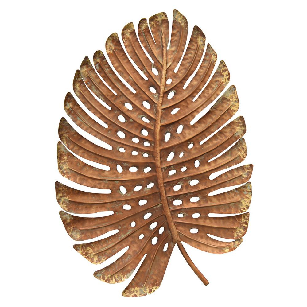 2020 Flowing Leaves Wall Decor Within Three Hands Gold Metal Leaf Wall Decor 91352 – The Home Depot (View 12 of 20)
