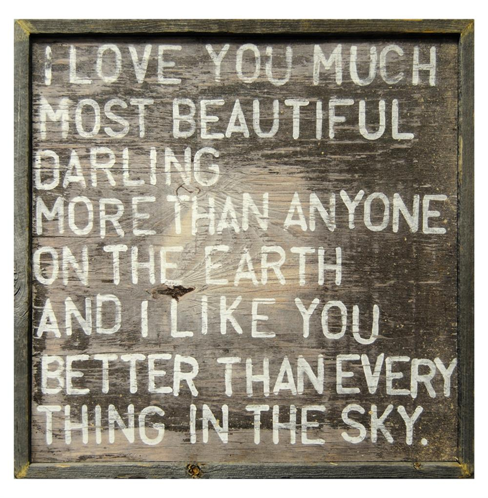2020 I Love You Much Most Beautiful Darling Reclaimed Wood Wall Art Print In 'love You More' Wood Wall Decor (Gallery 19 of 20)
