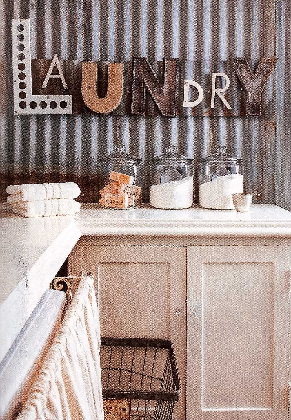 2020 Metal Laundry Room Wall Decor Inside Fabulous Laundry Room With Laundry Repurposed Letters As Wall Decor (View 1 of 20)