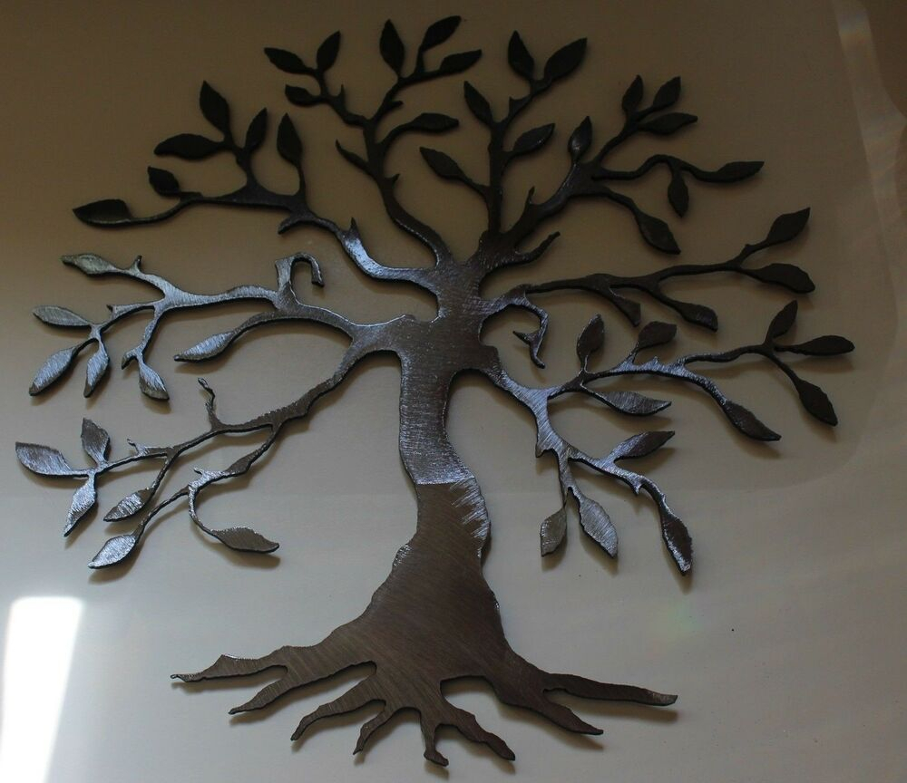 "2020 Olive/gray Metal Wall Decor Intended For Olive Tree –Tree Of Life Silver 20"" Metal Wall Art Decor (View 5 of 20)"