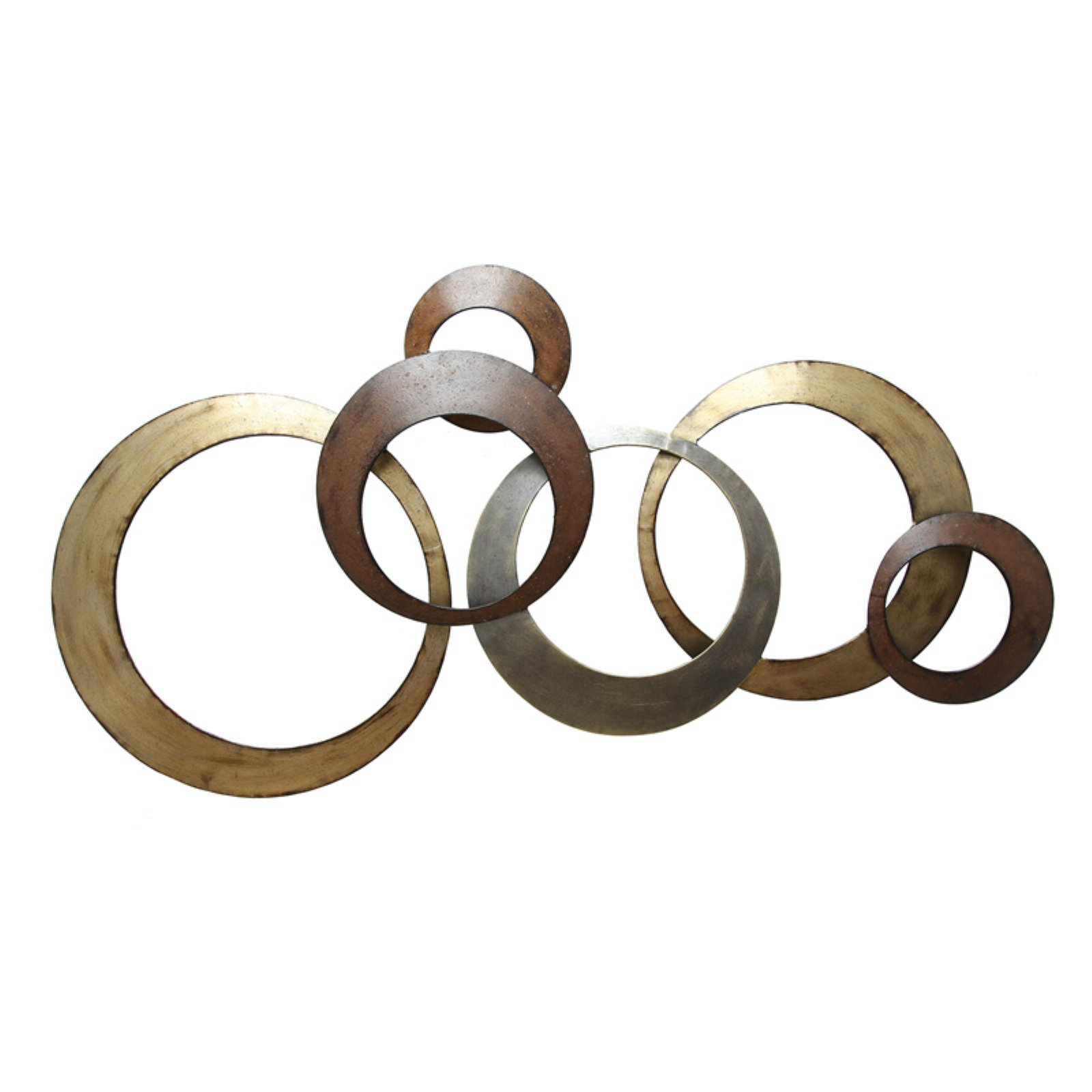 2020 Rings Wall Decor In Stratton Home Decor Metallic Rings Wall Decor – Walmart (View 5 of 20)