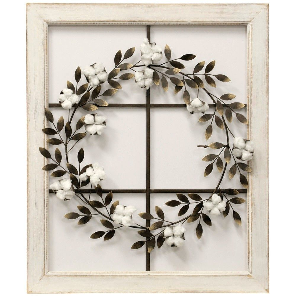 "26.18"" Floral Wreath Wood Framed Wall Art – Stylecraft In 2019 In Fashionable Floral Wreath Wood Framed Wall Decor (Gallery 3 of 20)"