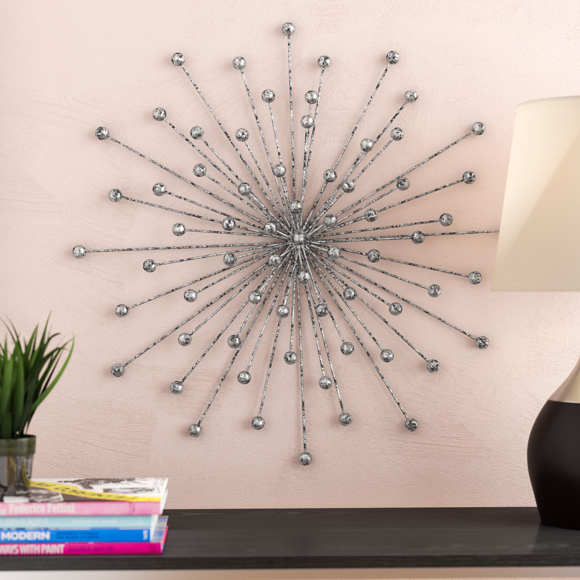 3 Piece Acrylic Burst Wall Decor Sets (Set Of 3) Throughout Preferred Wrought Studio Burst Wall Décor & Reviews (Gallery 18 of 20)