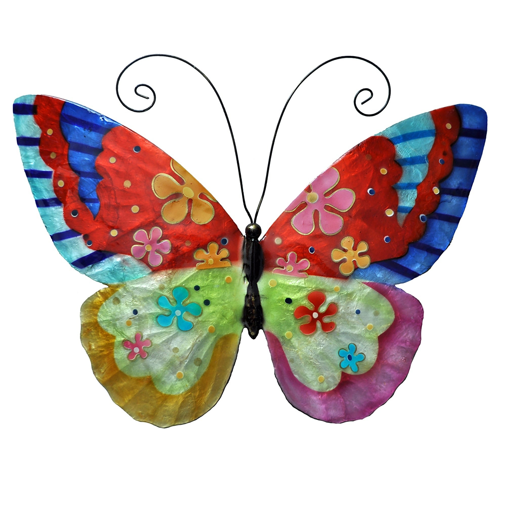 3 Piece Capri Butterfly Wall Decor Sets Inside Newest Metal Wall Sculptures (View 12 of 20)