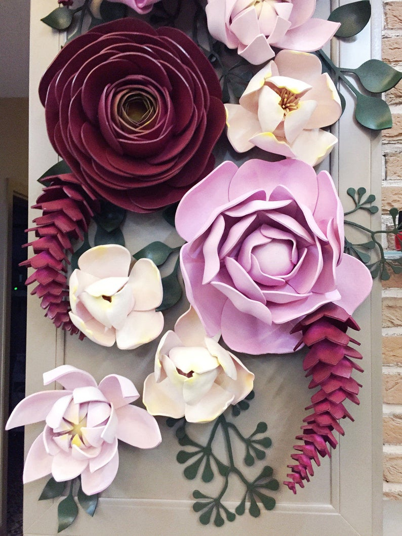 3 Piece Ceramic Flowers Wall Decor Sets For Most Recent Set Of 30 Large Foam Flowers Leaves Gaint Foam Flowers (Gallery 9 of 20)