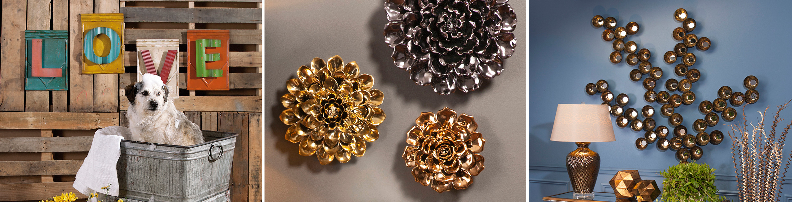3 Piece Ceramic Flowers Wall Decor Sets Regarding Most Current Outdoor Wall Decor (Gallery 19 of 20)