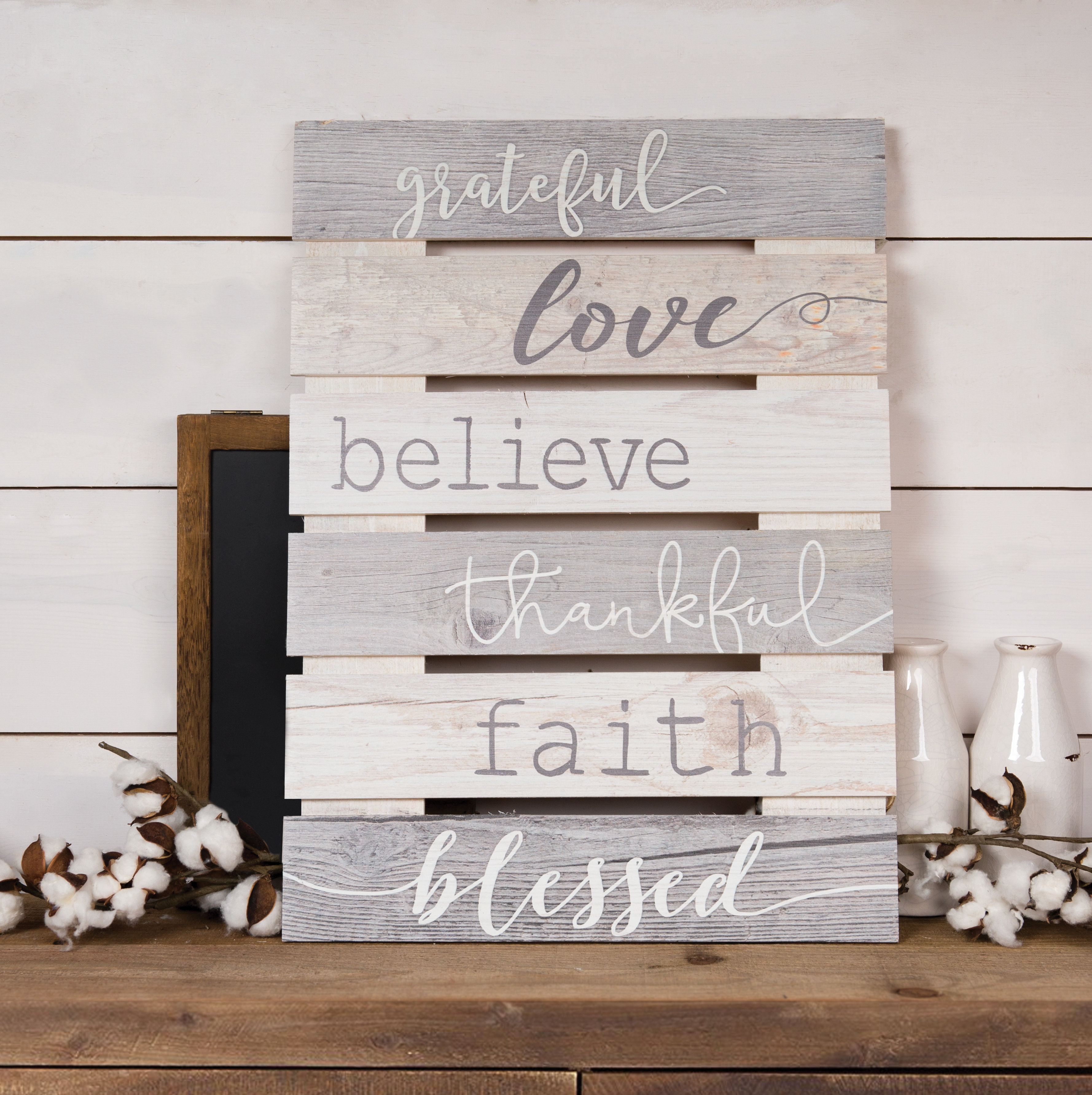 3 Piece Wash, Brush, Comb Wall Decor Sets (Set Of 3) For Preferred Skid Sign Grateful, Love, Believe, Thankful, Faith, Blessed Wall (Gallery 6 of 20)