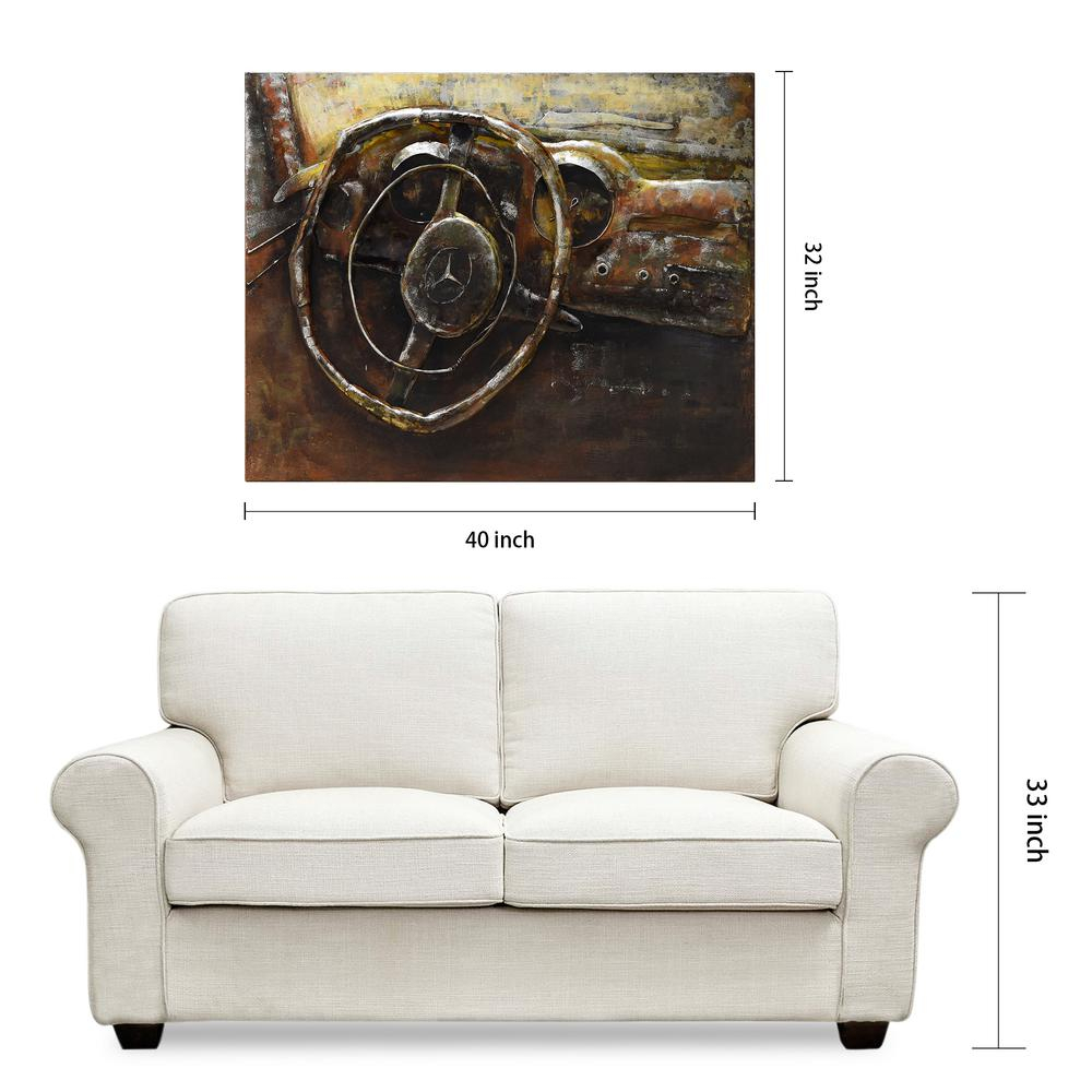 """32 In. X 40 In. """"benz""""ead Art Coop Mixed Media Iron Hand Painted For 2020 """"bridge To The City"""" Mixed Media Iron Hand Painted Dimensional Wall Decor (Gallery 11 of 20)"""