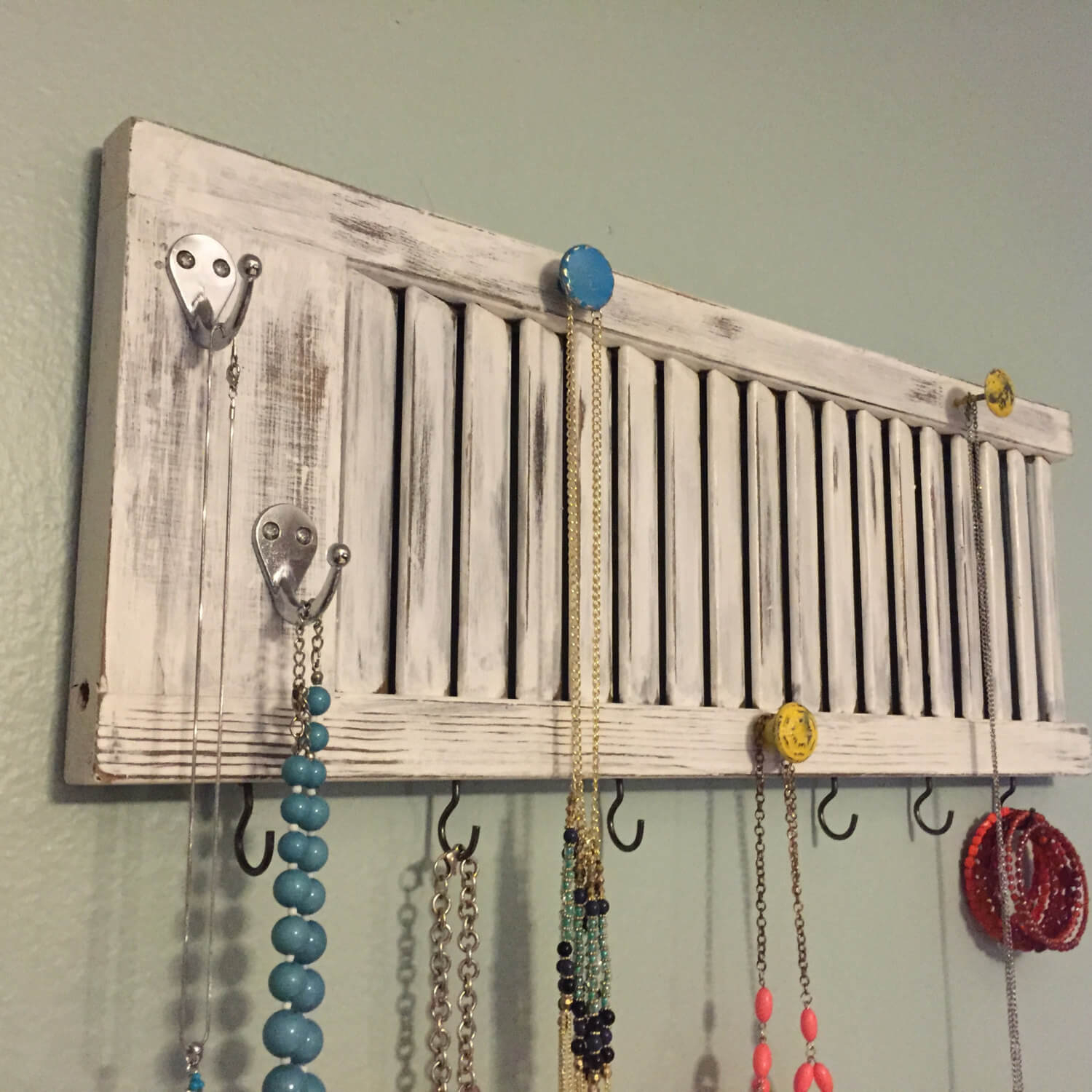 34 Best Old Shutter Decoration Ideas And Designs For 2019 Intended For Best And Newest Shutter Window Hanging Wall Decor (Gallery 9 of 20)