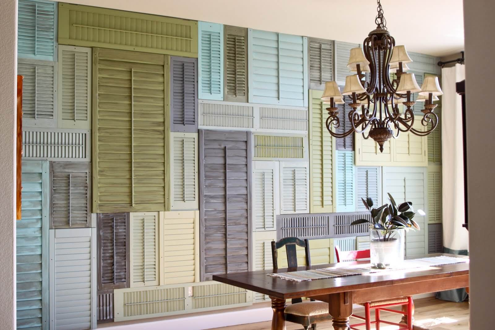 34 Best Old Shutter Decoration Ideas And Designs For 2019 Pertaining To Most Recent Shutter Window Hanging Wall Decor (Gallery 12 of 20)