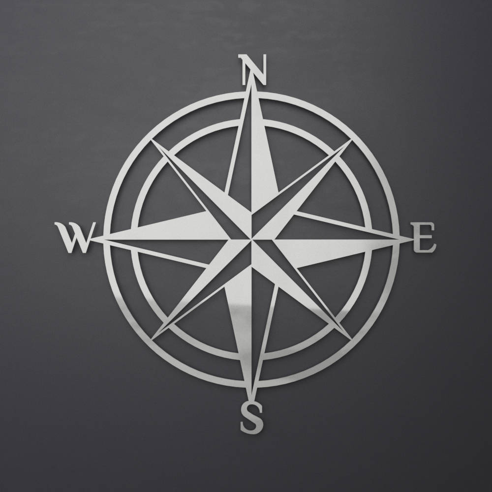 3D Compass Metal Wall Art, Nautical Rose Compass, Large Metal Wall Throughout Fashionable Outdoor Metal Wall Compass (Gallery 19 of 20)