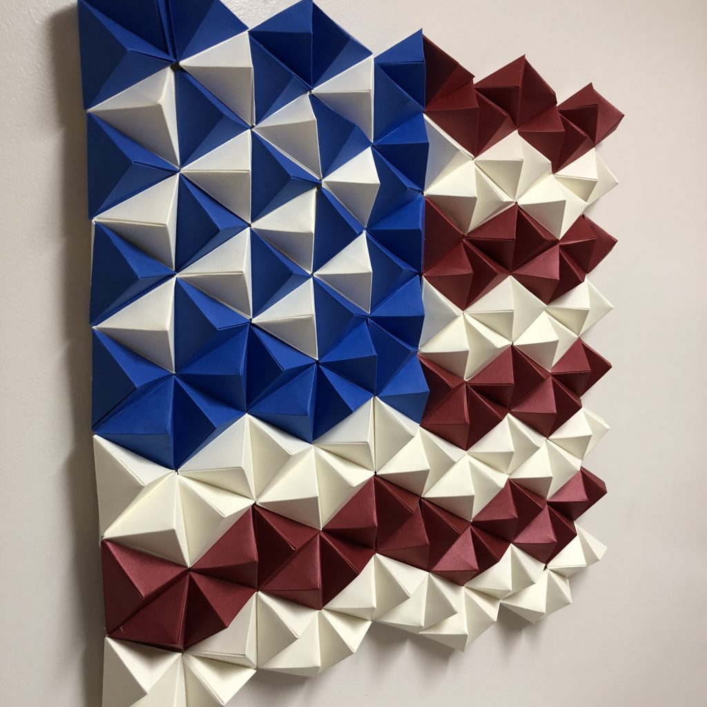 3D Paper American Flag – Origami Wall Art – Paperpapers Blog In Widely Used American Flag 3D Wall Decor (Gallery 7 of 20)