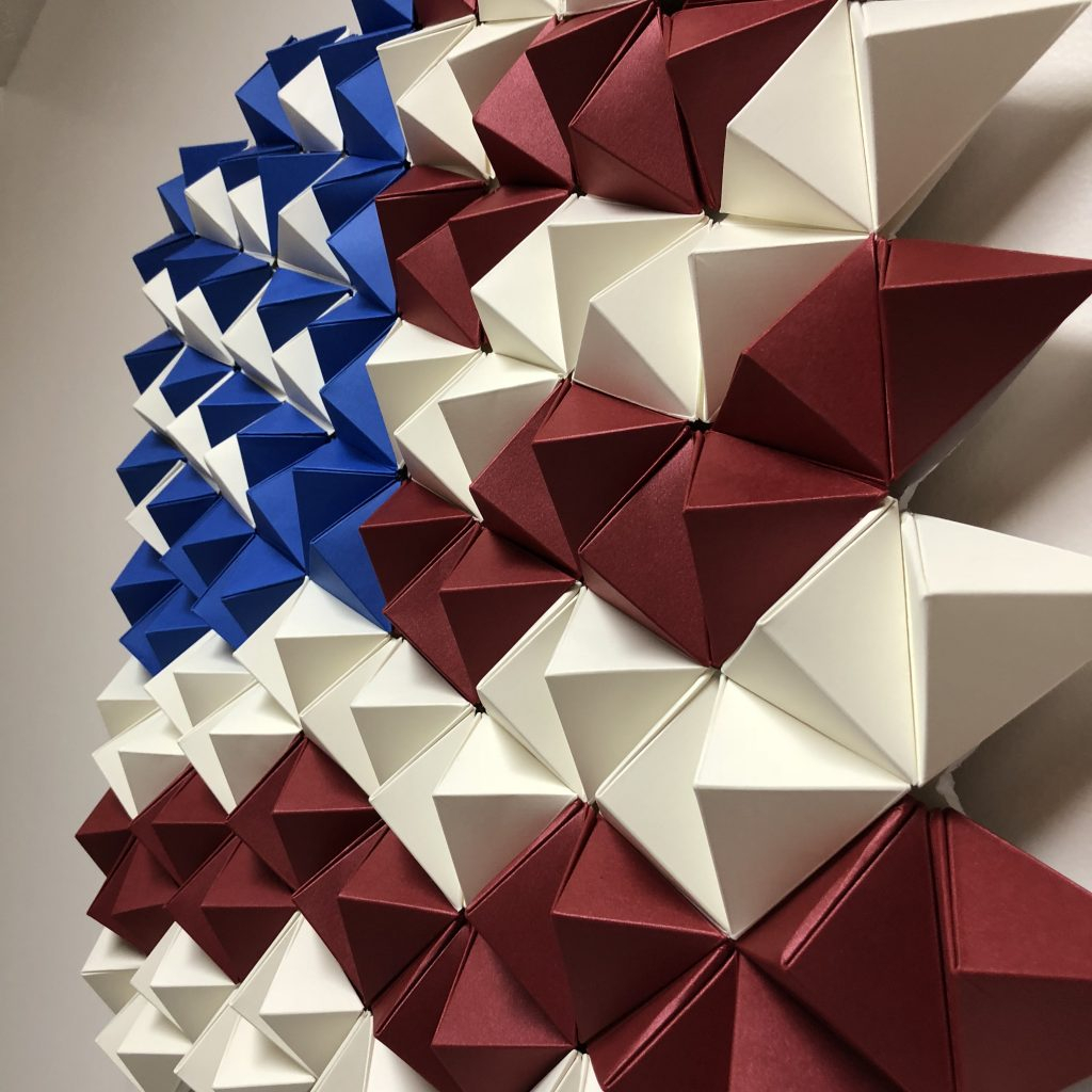 3d Paper American Flag – Origami Wall Art – Paperpapers Blog With Most Current American Flag 3d Wall Decor (View 13 of 20)