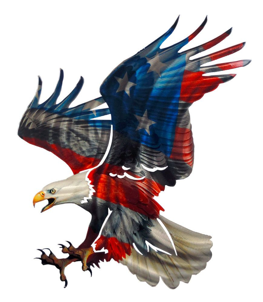 3d Patriotic Eagle With American Flag Design Laser Cut Metal Wall With Regard To Trendy American Flag 3d Wall Decor (View 17 of 20)