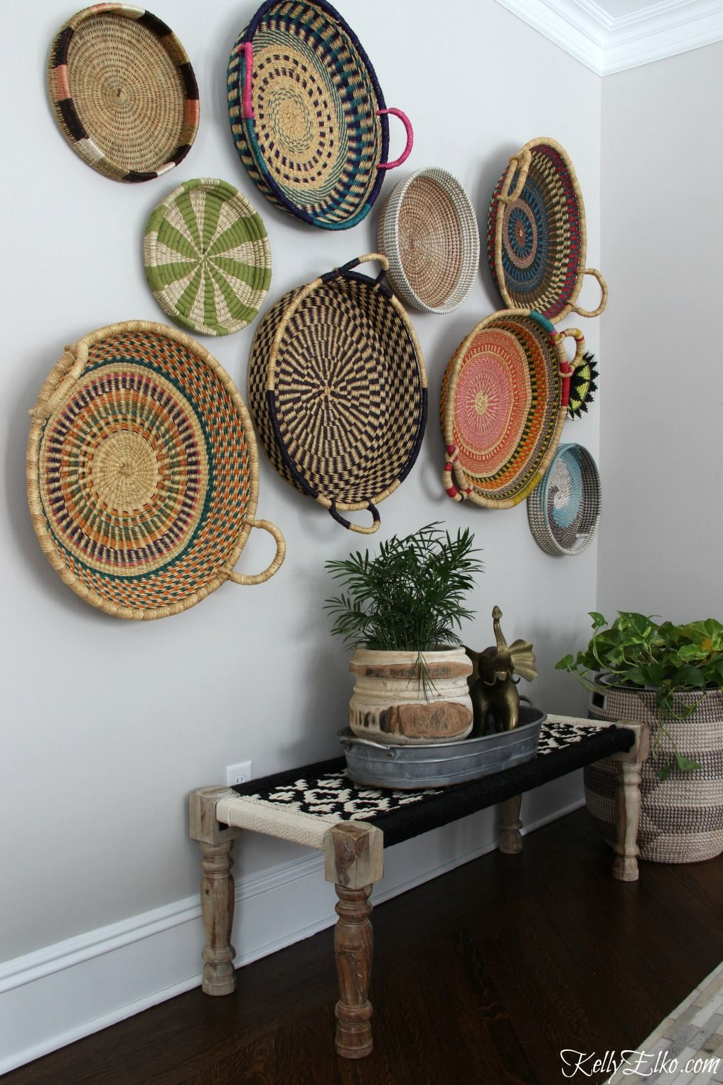 4 Piece Handwoven Wheel Wall Decor Sets Within Well Liked Colorful Basket Gallery Wall (View 4 of 20)
