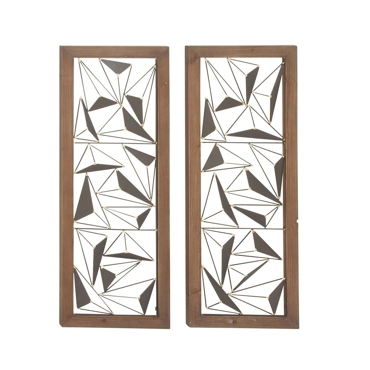 4 Piece Metal Wall Plaque Decor Sets Throughout Most Up To Date Shop Carson Carrington Orivesi 2 Piece Wood Metal Wall Decor Set (Gallery 18 of 20)