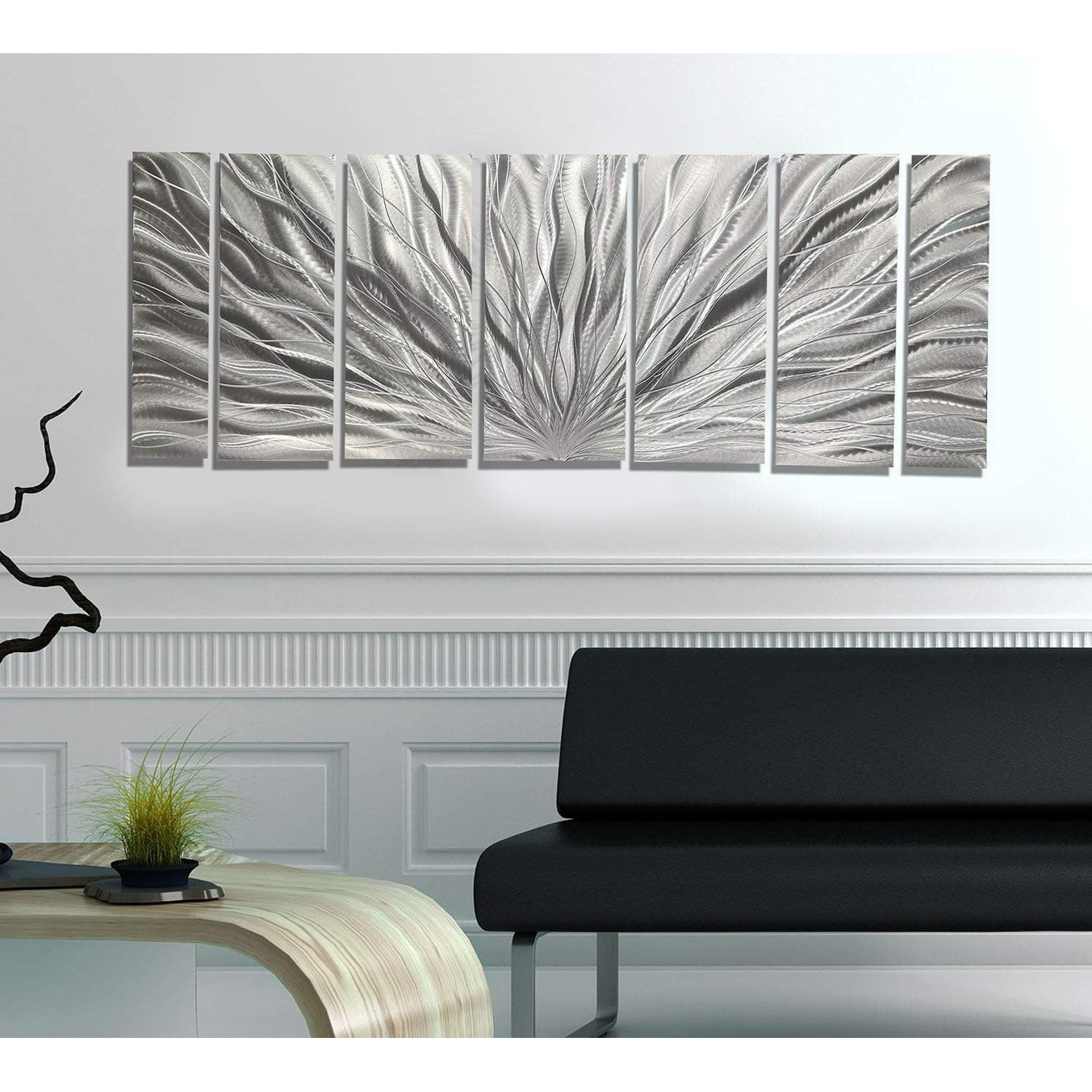 Abstract Bar And Panel Wall Decor For Most Current Shop Statements2000 Modern Metal Wall Art Panels Abstract Silver (View 3 of 20)