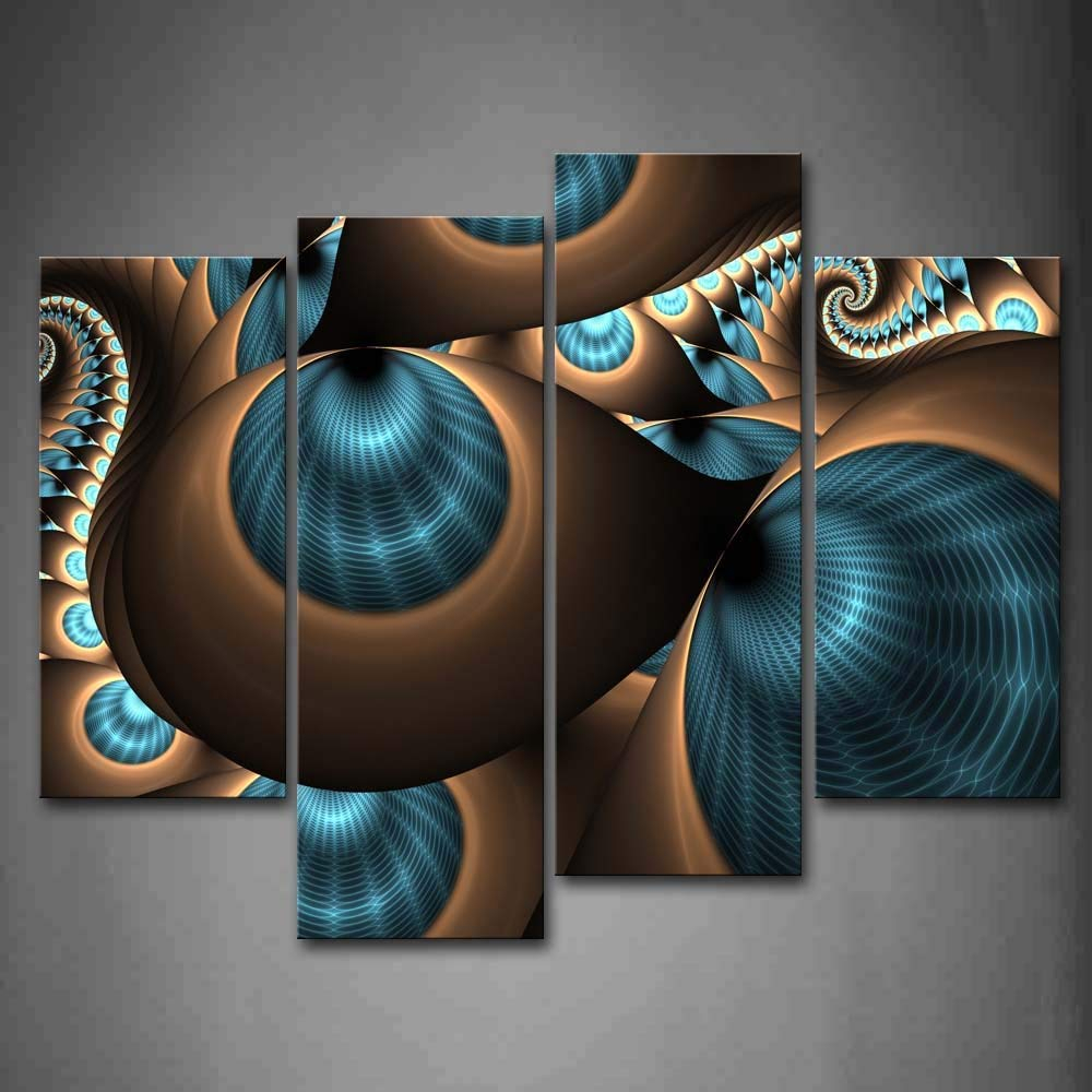 Abstract Bar And Panel Wall Decor Regarding Well Known Home Decor Wall Art Painting 4 Panel (View 5 of 20)