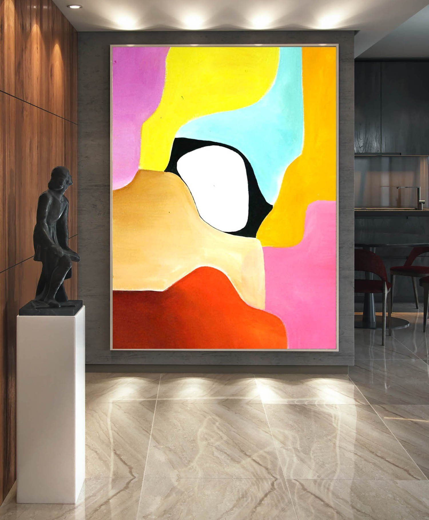 Abstract Painting On Canvas – Extra Large Wall Art, Contemporary Art In Most Popular Large Modern Industrial Wall Decor (View 2 of 20)