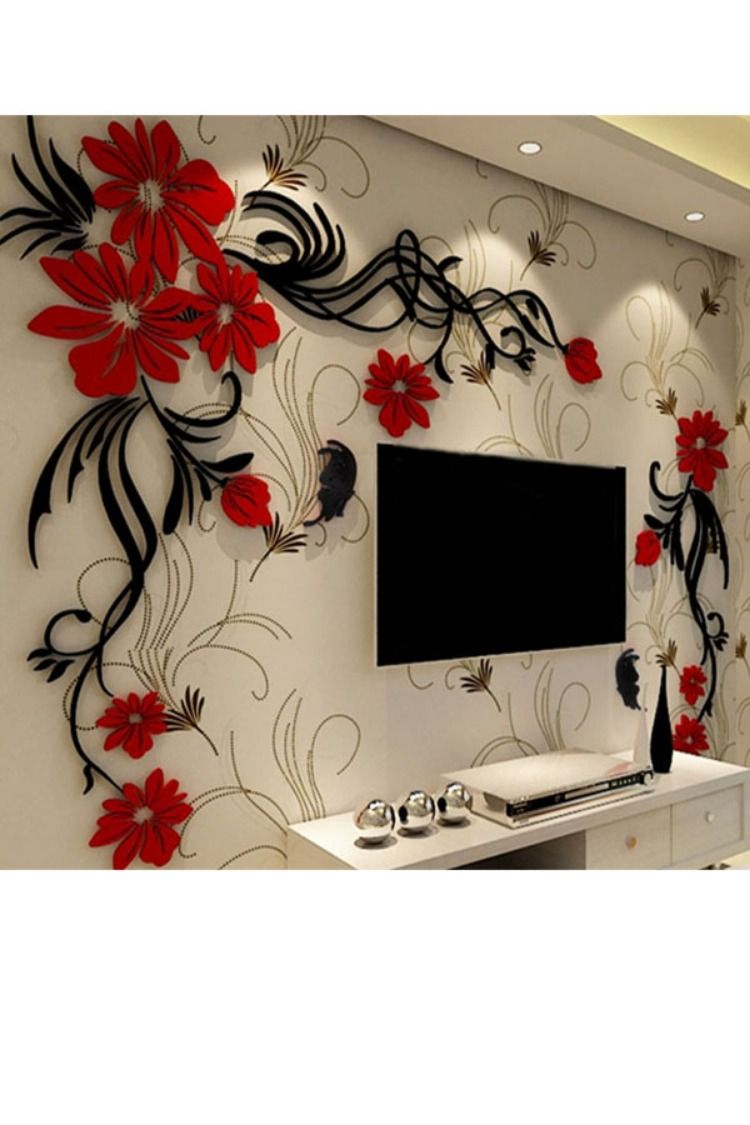 Acrylic Material Living Room 3d Wall Sticker (View 18 of 20)