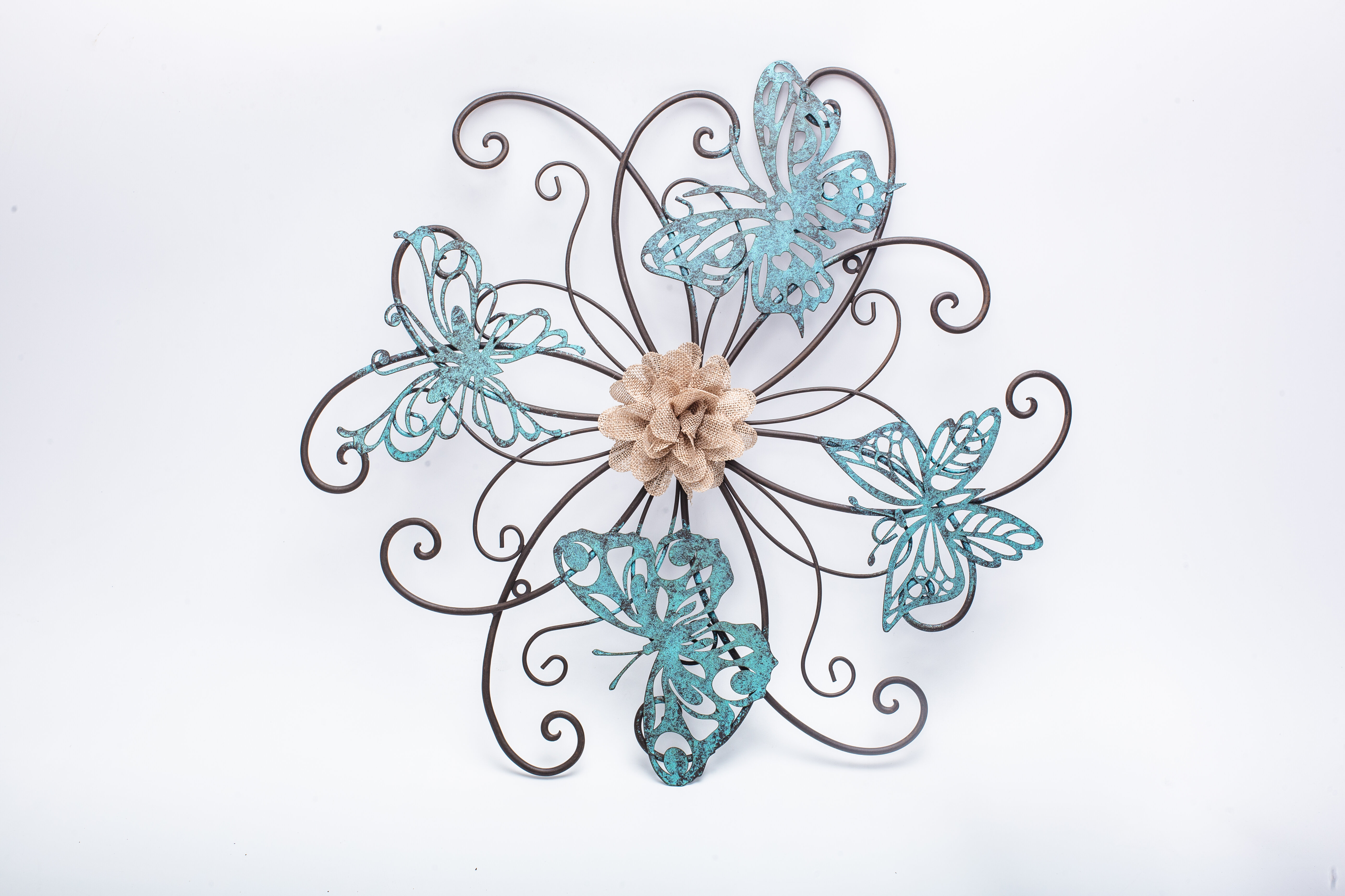 Adecotrading Flower And Butterfly Urban Design Metal Wall Décor Within Most Current Flower Urban Design Metal Wall Decor (View 1 of 20)