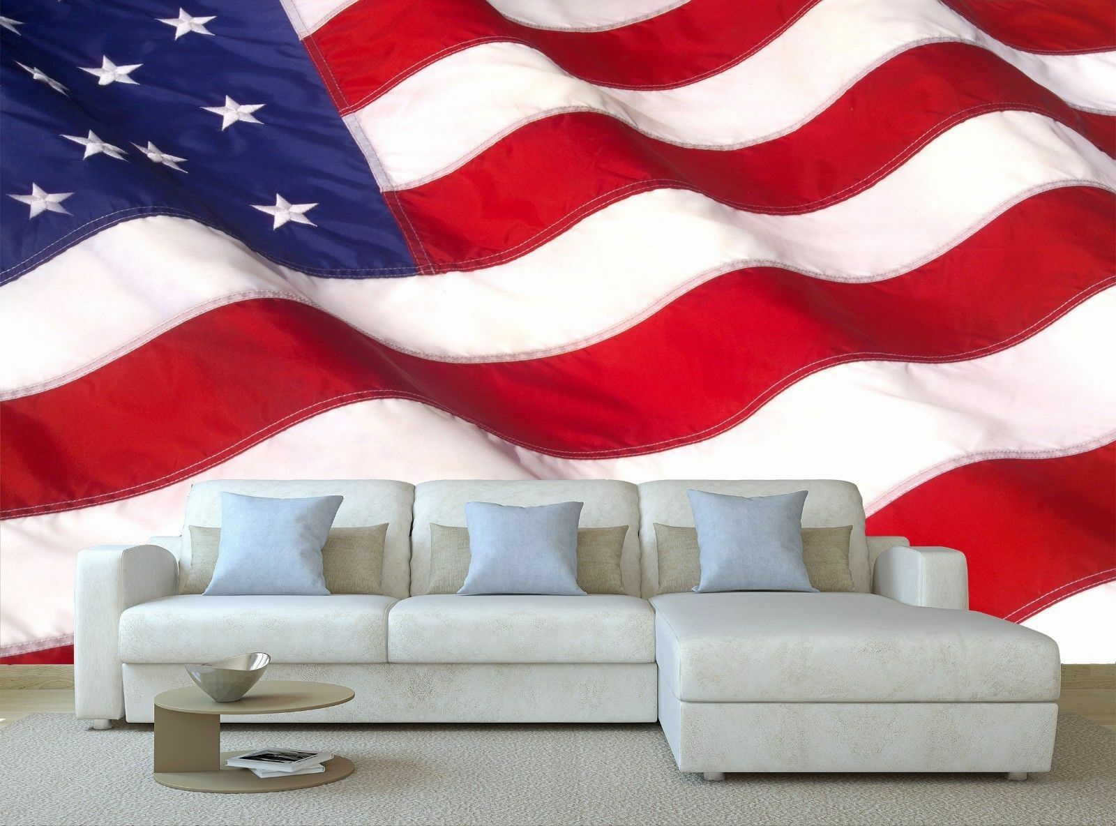 American Flag 3d Wall Decor With Most Popular Waving American Flag 3d Mural Photo Wallpaper Decor Large Paper Wall (View 6 of 20)