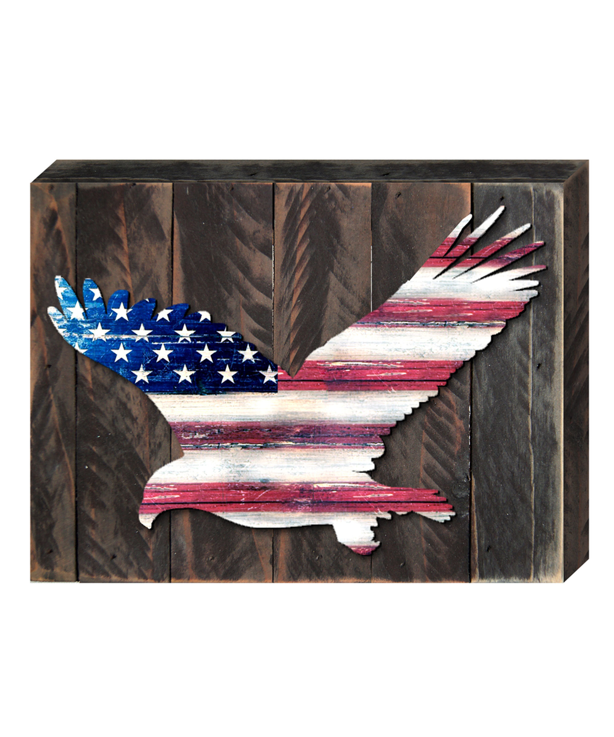 American Pride 3D Wall Decor With Widely Used Designocracy Eagle Vintage American Flag Let Freedom Ring Wall Décor (View 8 of 20)
