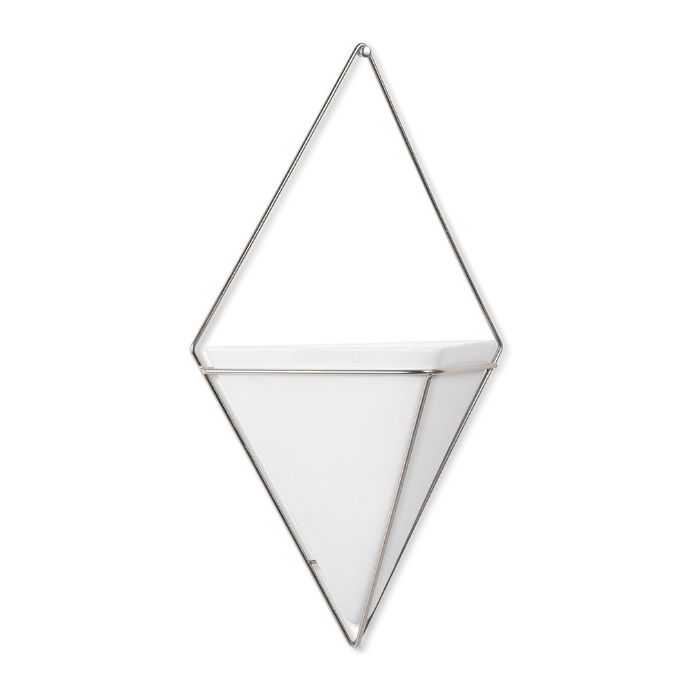 Best And Newest Buy Umbra Trigg Wall Planter – White/nickel (View 8 of 20)
