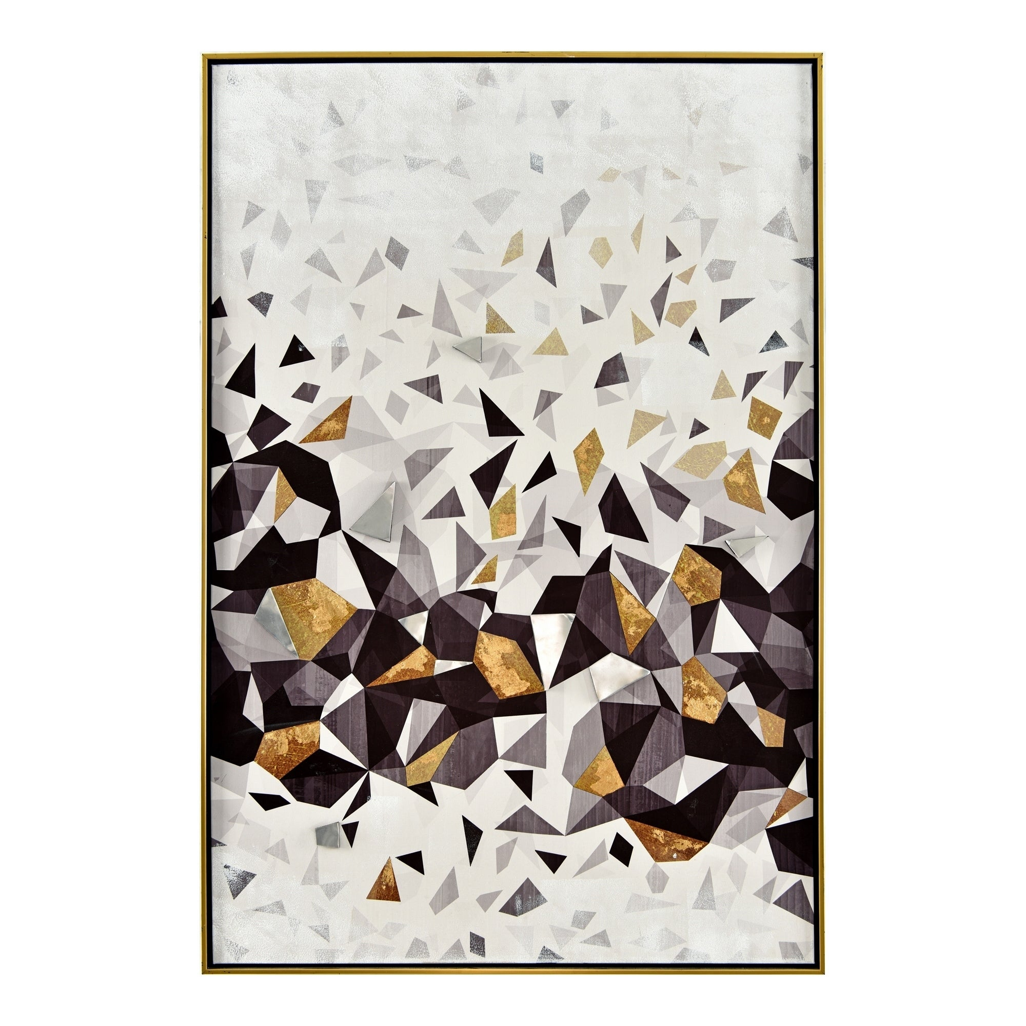 Best And Newest Contemporary Geometric Wall Decor With Regard To Shop Aurelle Home Contemporary Geometric Framed Canvas Wall Decor (View 13 of 20)
