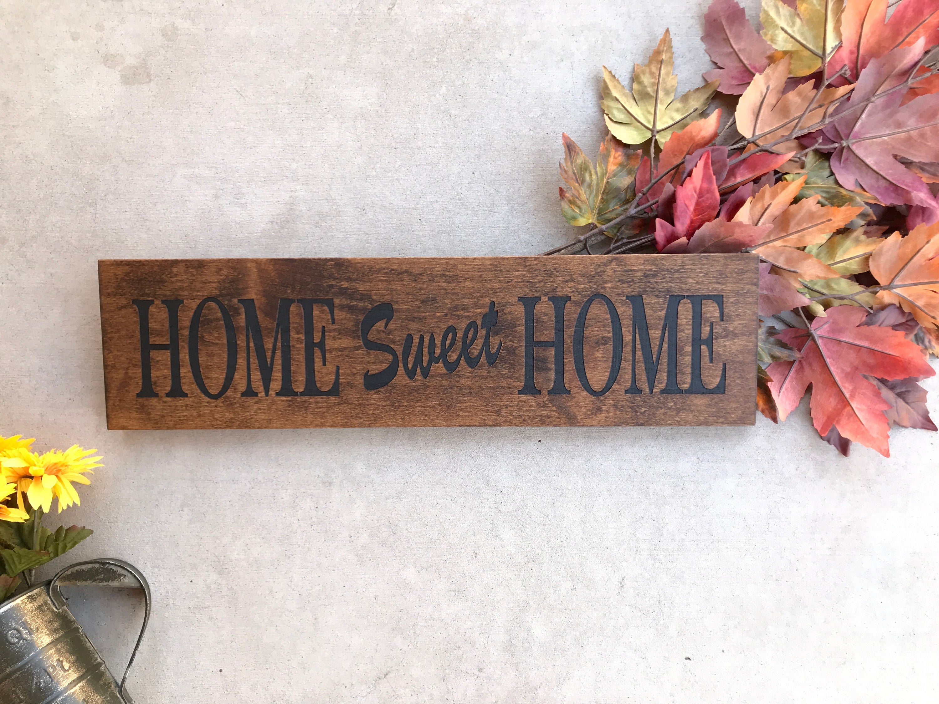Best And Newest Engraved Wood Home Sign / Inspirational Sign / Custom Wall Decor Inside Laser Engraved Home Sweet Home Wall Decor (View 4 of 20)