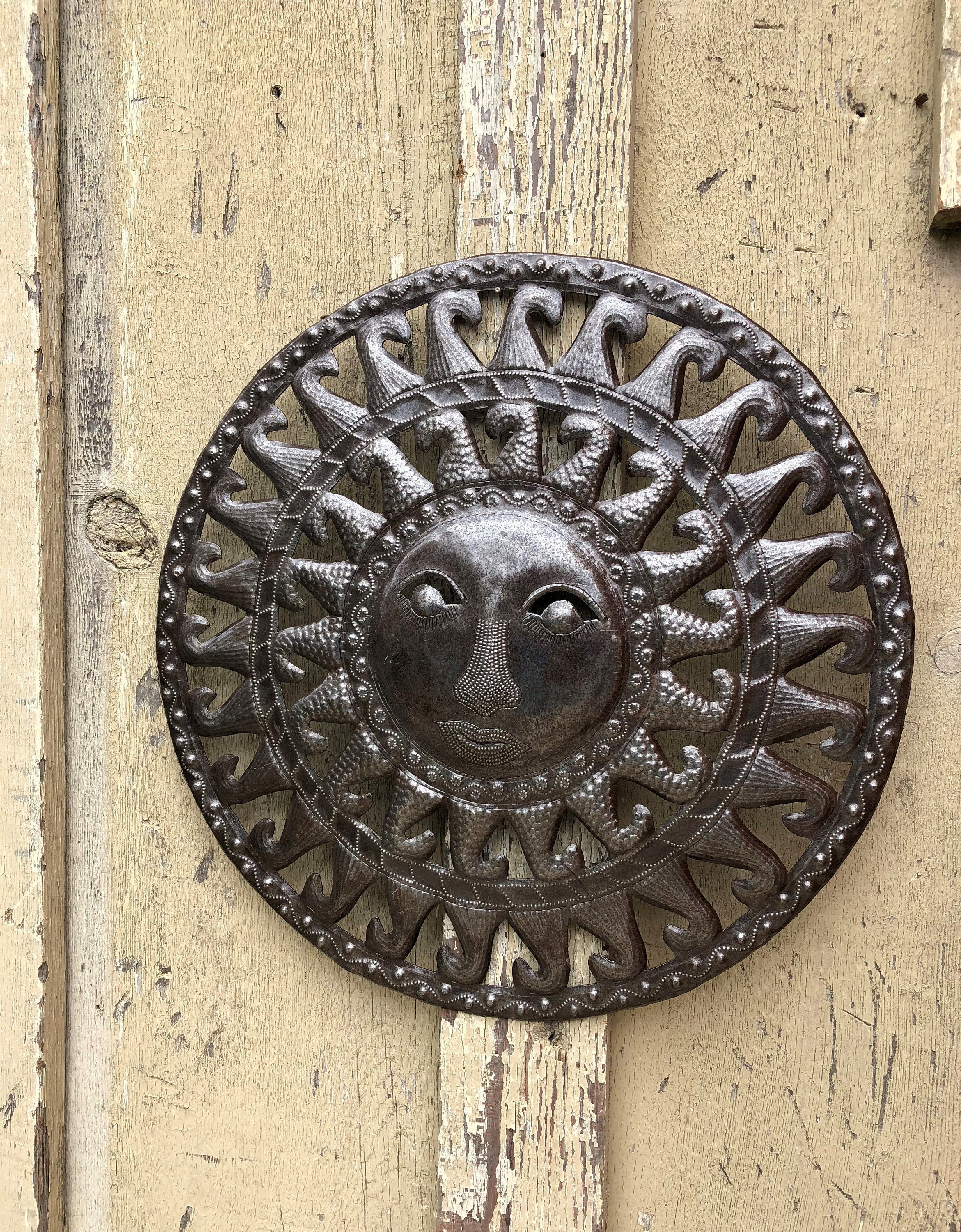 Best And Newest Recycled Moon And Sun Wall Decor In Sun Moon Celestial – Art Under The Tree Haiti Metal Art (View 1 of 20)