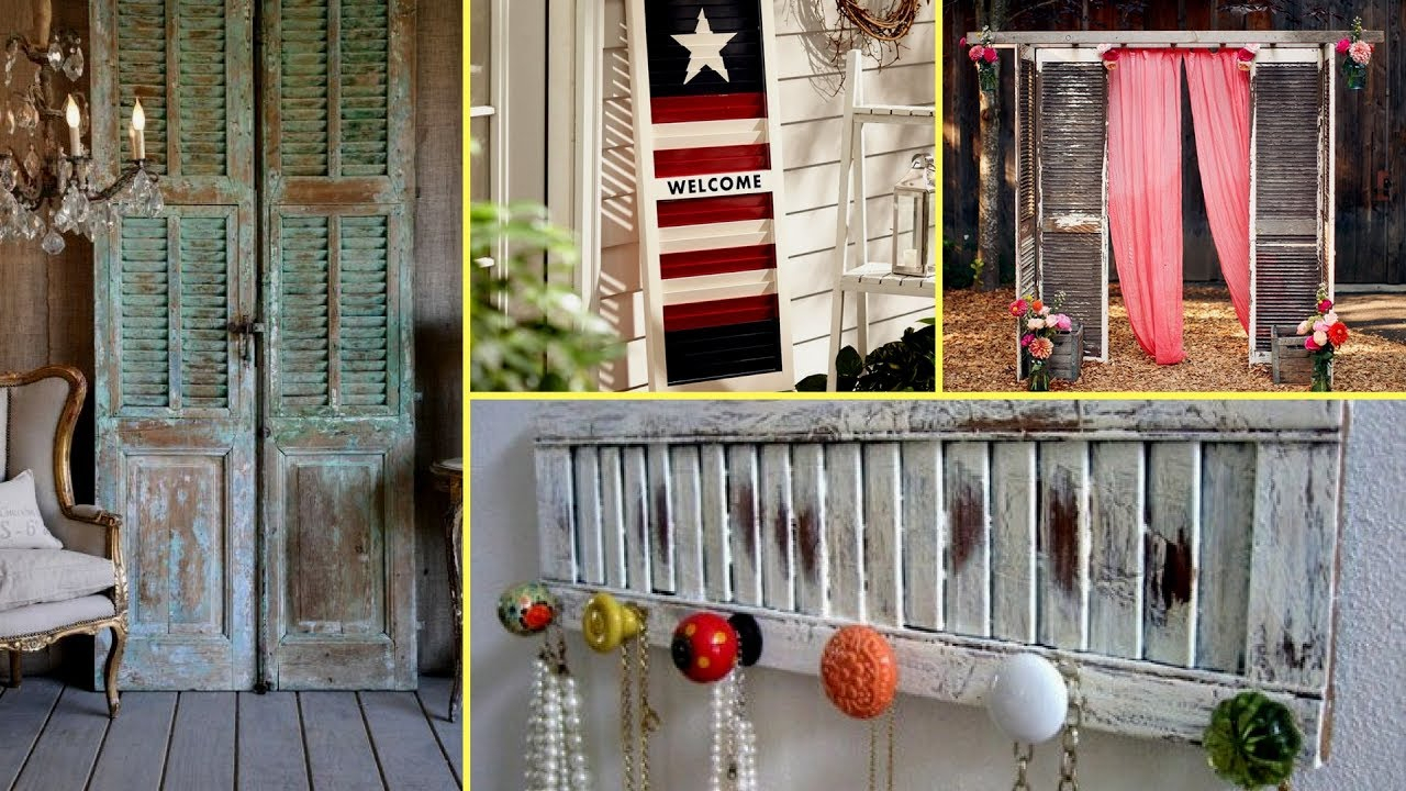 Best And Newest Shutter Window Hanging Wall Decor Regarding ? Diy Shabby Chic Shutter Decorating Ideas Farmhouse Style (Gallery 20 of 20)