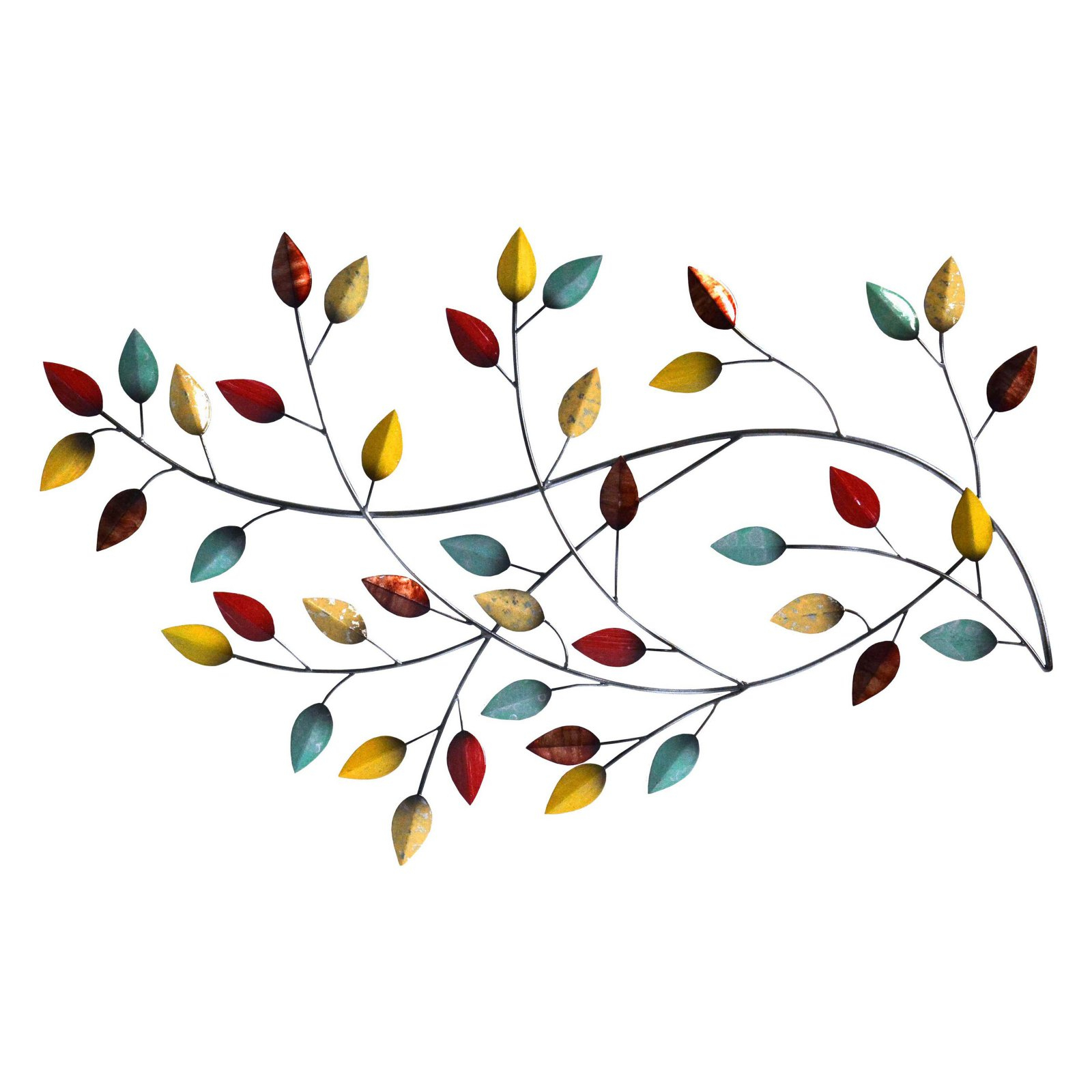 Best And Newest Stratton Home Decor Autumn Blowing Leaves Wall Decor – Walmart Within Blowing Leaves Wall Decor (Gallery 13 of 20)