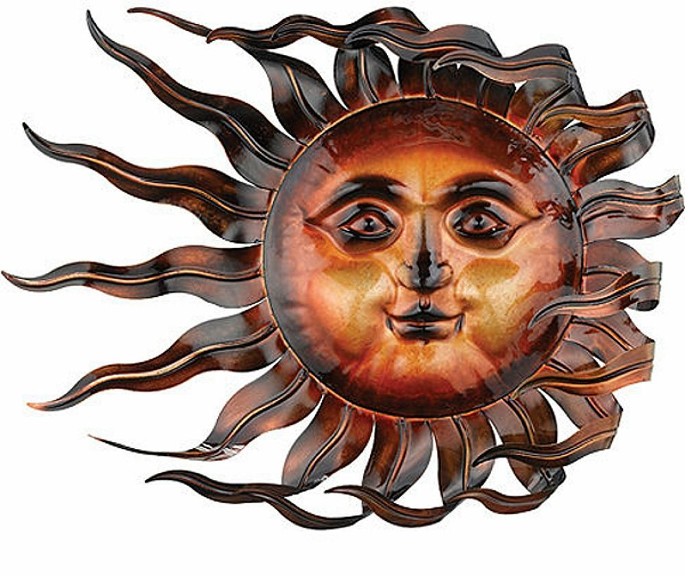 Best And Newest Sunswept Sun Face Wall Art Wind Blown Celestial Indoor Outdoor Home Regarding Recycled Moon And Sun Wall Decor (Gallery 10 of 20)