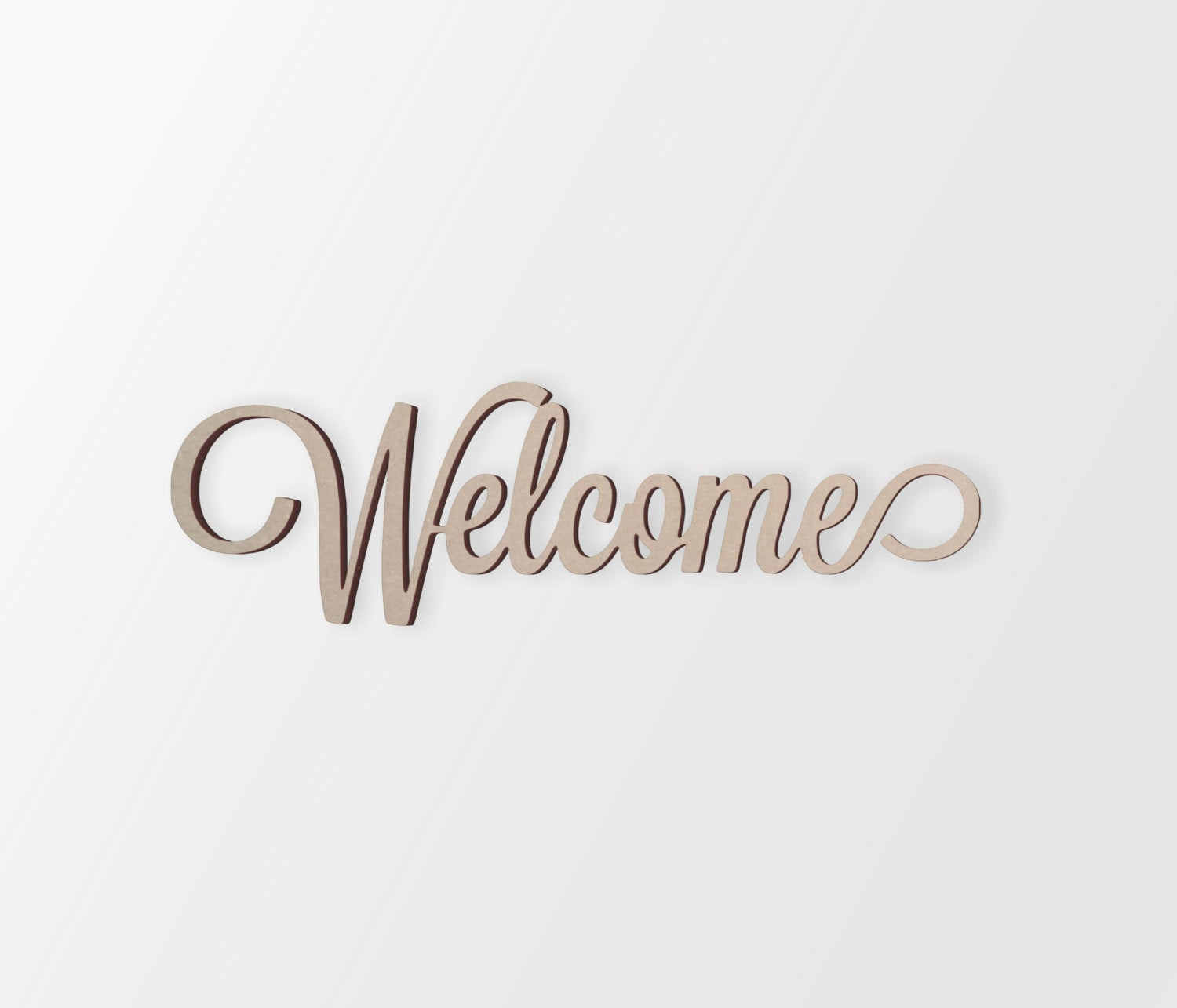 Best And Newest Wall Art Word Welcome Cutout Home Decor (View 2 of 20)