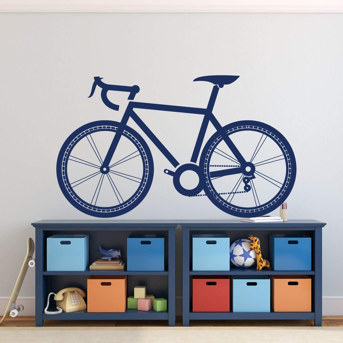 Bike Wall Decal Vinyl Sticker Vinyl Decor Wall Decal With Regard To Most Up To Date Bike Wall Decor (View 2 of 20)