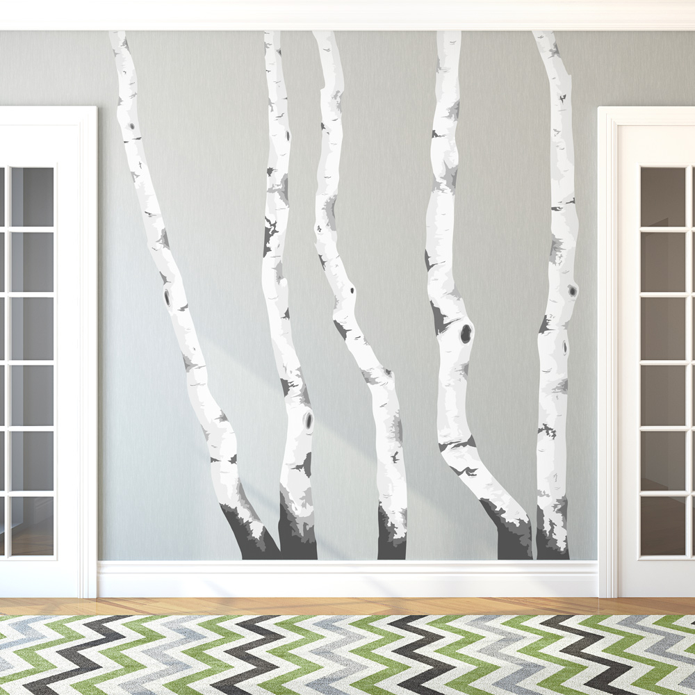 Birch Trees Printed Wall Decal For 2019 Tree Wall Decor (View 13 of 20)