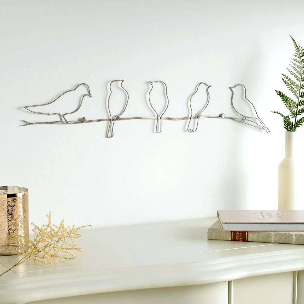 Bird Metal Wall Art Bird Metal Wall Art Bird On A Twig Metal Wall With Well Known Birds On A Wire Wall Decor (View 15 of 20)