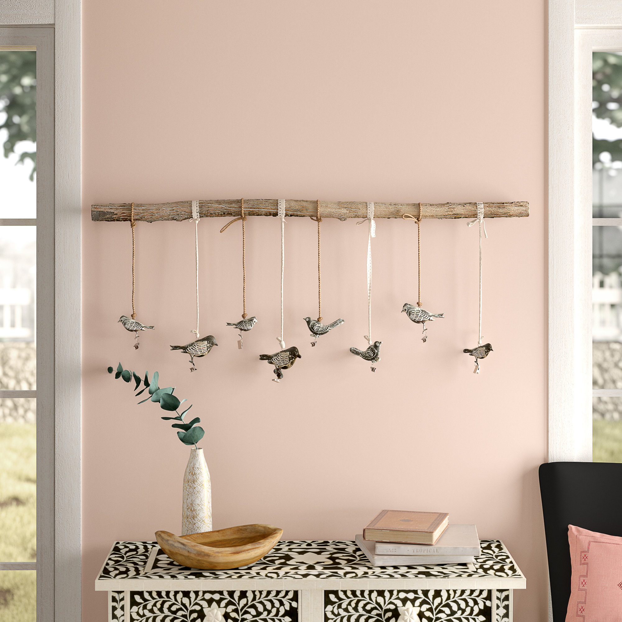 Birds On A Branch Wall Decor Pertaining To Widely Used Bungalow Rose Birds On A Branch Wall Decor & Reviews (Gallery 1 of 20)